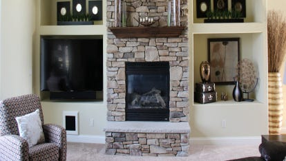 Showcasing Tall Fireplaces