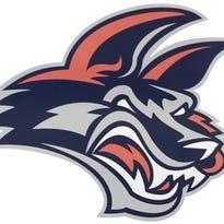 Elmira Jackals logo.