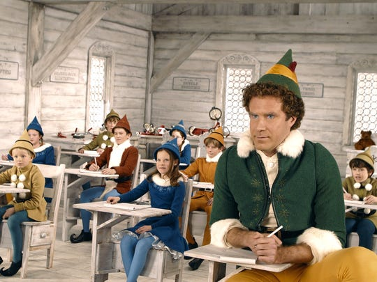 """Will Ferrell stars in """"Elf,"""" a Christmas flick you can see at the library Monday."""