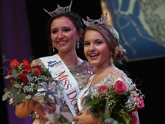 Miss Door County 2016 is Hope Copiskey, left, and 2016 Outstanding Teen is Gracen Spritka. The Door County Scholarship Pageant was held Feb. 6 at the Southern Door Community Auditorium.