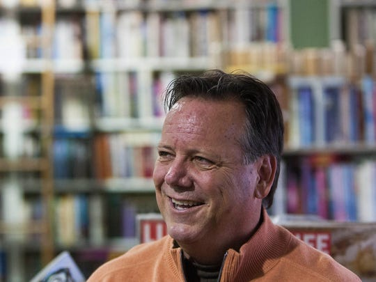 """Author Jeff Maulhardt talks to customers recently at Bank of Books in Ventura about his new book, """"Oxnard Sugar Beets."""""""