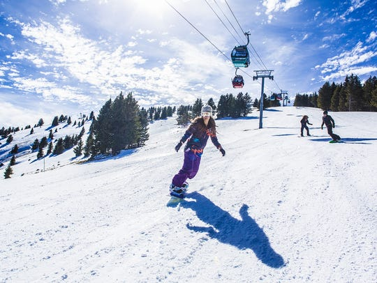 Ski Apache offers both ski and snowboard packages so visitors can gain confidence on the slopes.