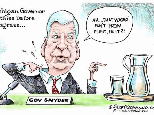 Gov. Snyder testifies before Congress.