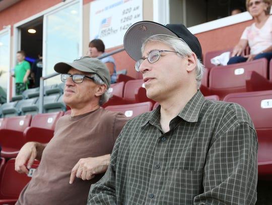 From left, Peter and Jonathan Rosenblum at Dutchess