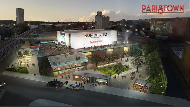 A rendering of Number 15, a food court, bar and entertainment venue added to Paristown Pointe