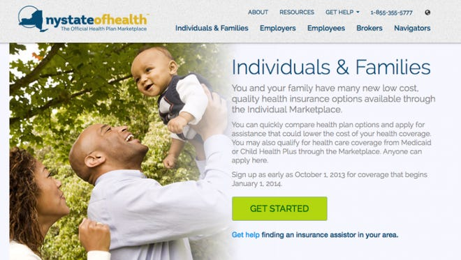 The NY State of Health website.
