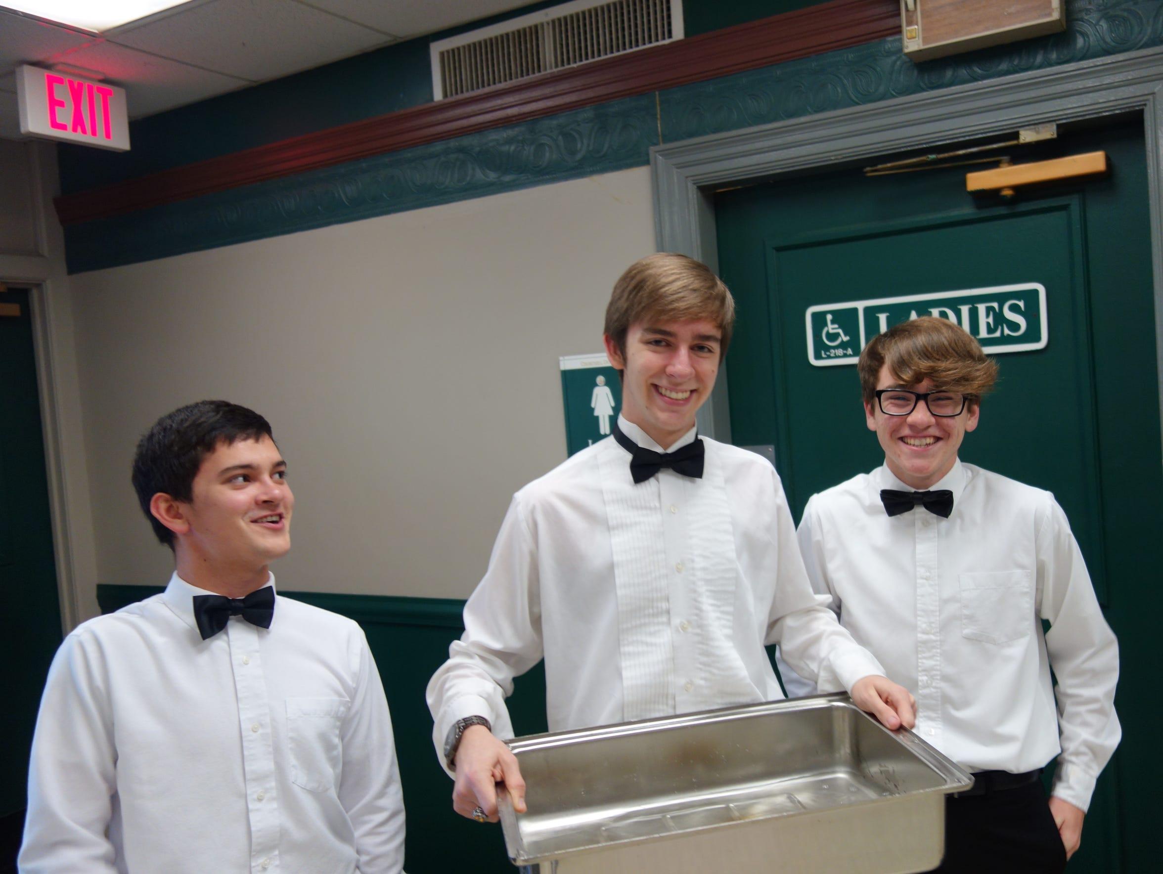 From left, Gio Ruppert, Spencer Stevens and Steven