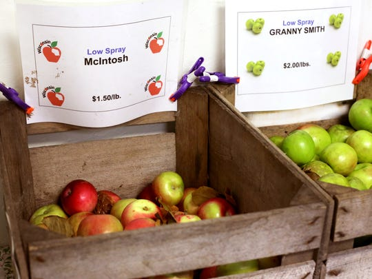 Apples from Log Cabin Orchards of Plymouth at Manitowoc's inaugural Winter Market Nov. 12.