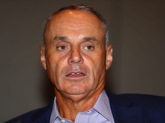 Baseball Commissioner Rob Manfred is trying to find ways to shave time off games.
