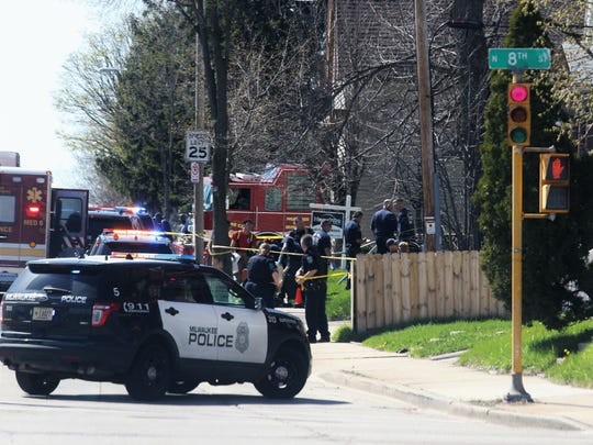 Two females were shot during an argument with two suspects on Milwaukee's north side on Easter Sunday. Police were searching Monday for two suspects.