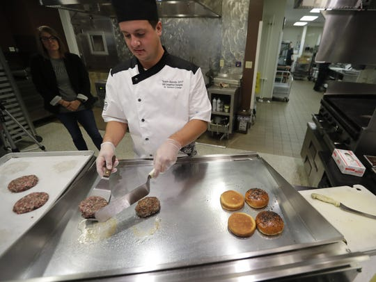 Benjamin Sauer, assistant head chef for catering at