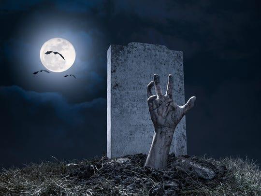 Zombie Hand Halloween Graveyard