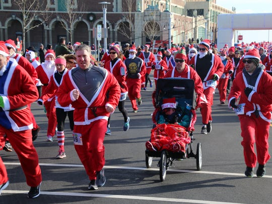 Approximately 1,500 runners are expected for Saturday's Santa Run in Asbury Park.