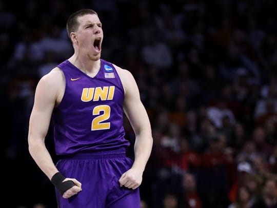 "UNI coach Ben Jacobson on Klint Carlson: ""He's got"