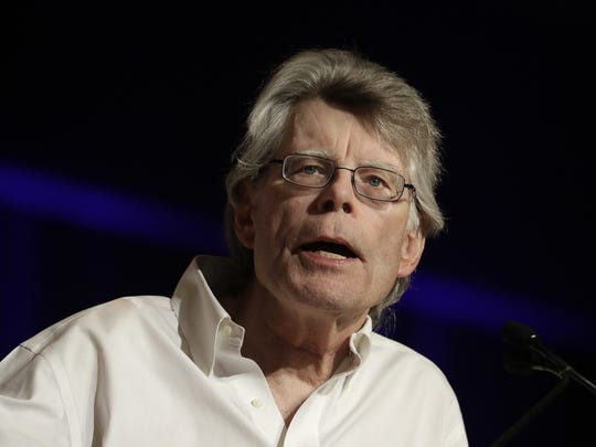 In this June 1, 2017, photo, author Stephen King speaks at Book Expo America in New York.