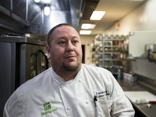 Matthew Smallwood, executive chef of the Holiday Inn