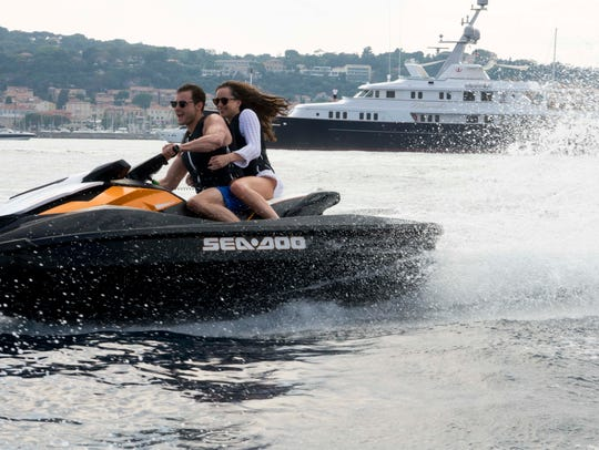 Christian Grey (Jamie Dornan) and Anastasia Steele