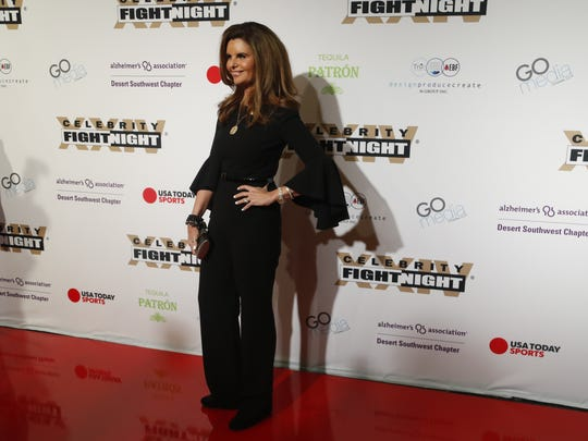 Maria Shriver during the red carpet at Celebrity Fight Night inside JW Marriott Desert Ridge Resort and Spa on March 10, 2018, in Phoenix, Ariz.