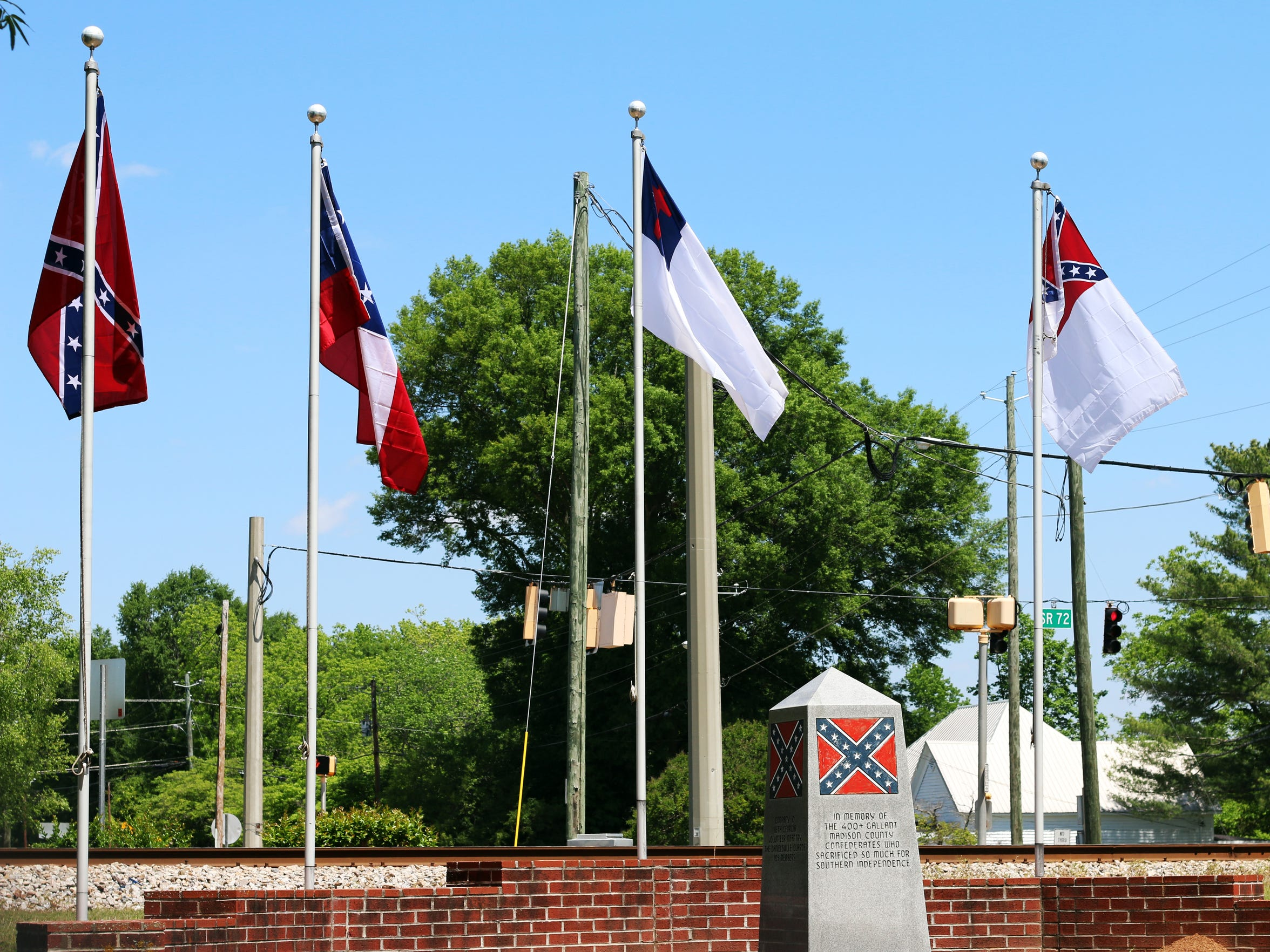 A memorial dedicated to Confederate soldiers from Madison