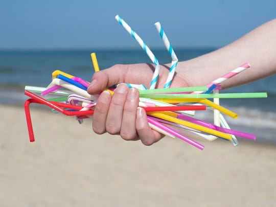 Plastic straws are one of the top 10 plastic items found in beach cleanups every year.