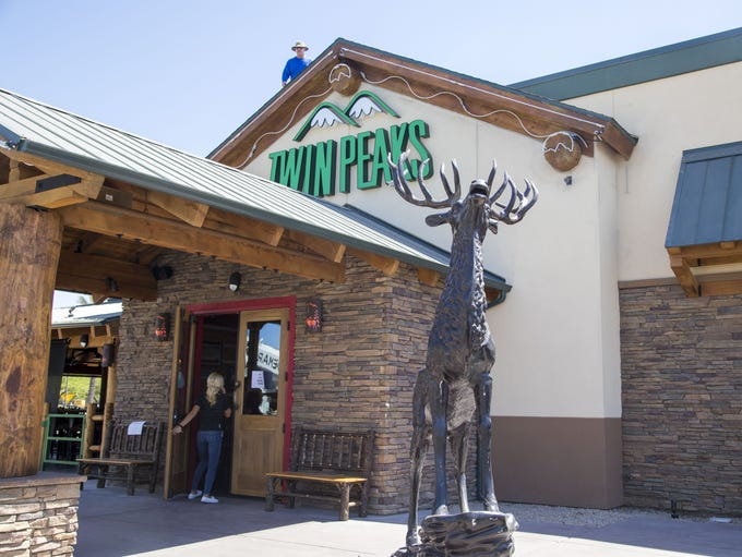 The exterior at Twin Peaks restaurant at Westgate in
