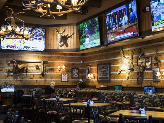 The interior of Twin Peaks restaurant at Westgate in