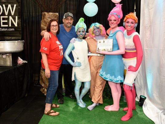 Relentless Salon staff dressed as Trolls at the Chili
