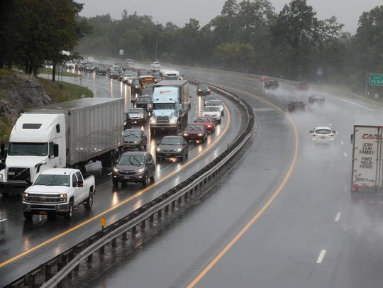 Heavy rains made for a slow afternoon commute along