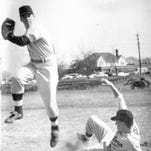 Pete Rose wore No. 55 as a halfback at Western Hills. Here in a game against Hughes.