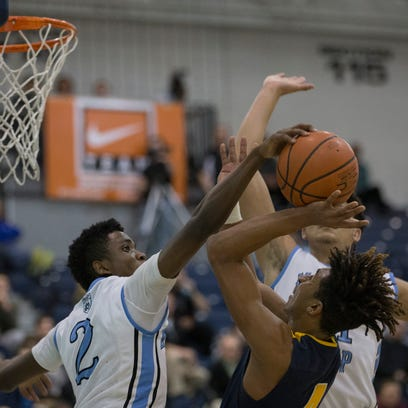 Toms River North's Darrion Carrington tries to shoot