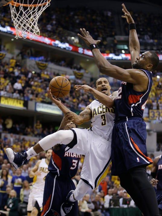 APTOPIX Hawks Pacers Basketball