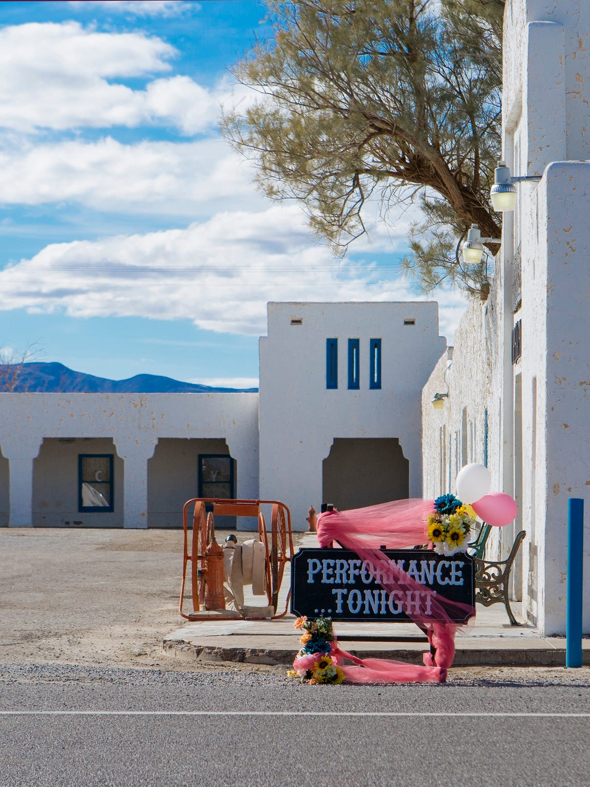 A sign outside the Amargosa Opera House