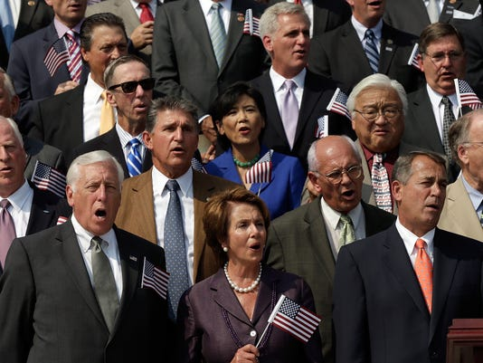 Congress Holds 9-11 Remembrance Ceremony On Steps Of US Capitol