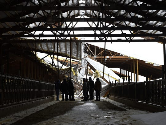In April, heavy snow collapsed the barn roof of the Clyde Hill Calf Ranch owned by Pagel's Ponderosa Dairy.