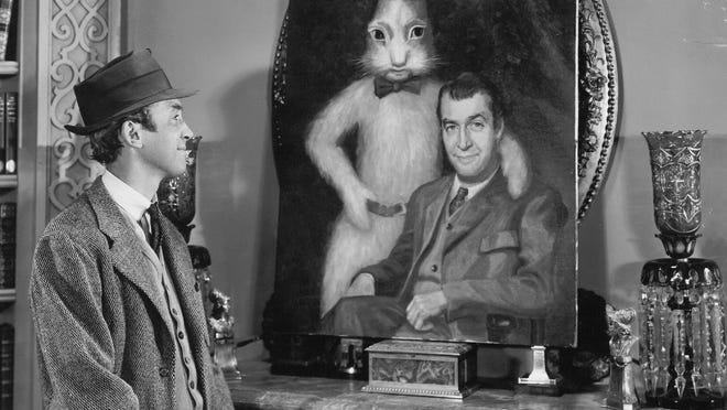 """Jimmy Stewart in """"Harvey,"""" 1950."""
