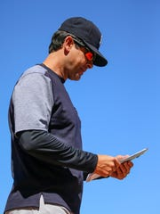 New York Yankees manager Aaron Boone (17) during the