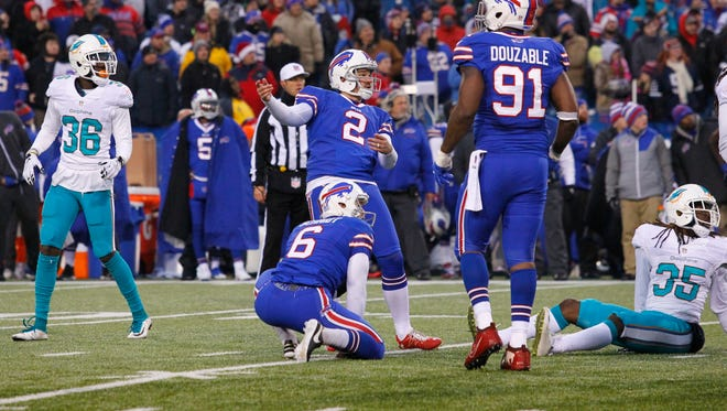 Dan Carpenter's miss in overtime against the Dolphins cost the Bills a chance to win the game.