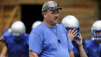 Carson Gowan has been McDowell's football coach since 2008.