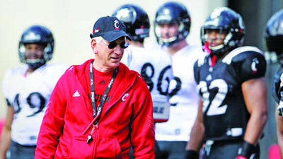 Coach Tommy Tuberville and the Bearcats will play at Ohio State on Sept. 27.
