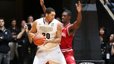Purdue junior center A.J. Hammons says he needs to be better at receiving post feeds this season.
