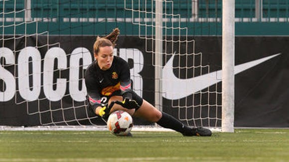 Flash rookie goalie Kelsey Wys makes a save during Friday's 1-1 tie at home against FC Kansas City.