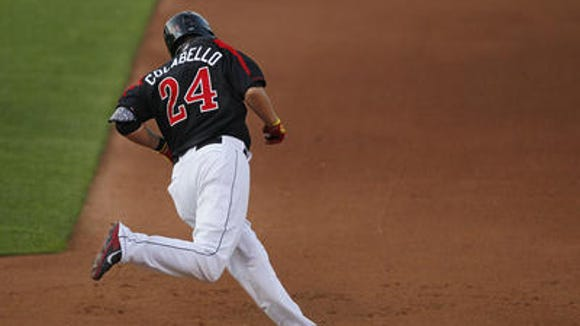 A sight Wings fans hope to see this week: Chris Colabello rounding the bases.
