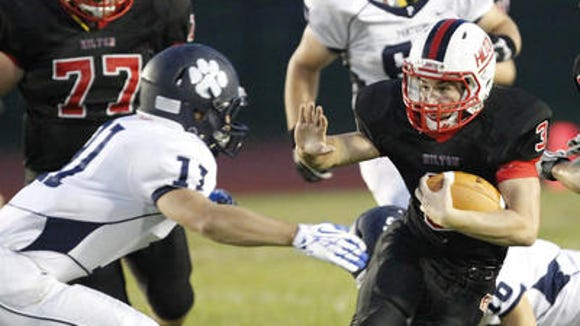 Hilton sophomore Dillon Philmon stepped in as a starter and carried the bulk of the Cadets' running game in 2013.