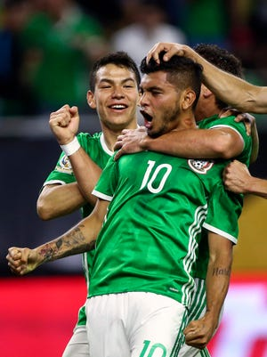 The Mexican national soccer team will play at Nissan Stadium on Saturday.