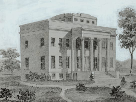 The original observatory was located on Mount Adams from 1843 to 1873.