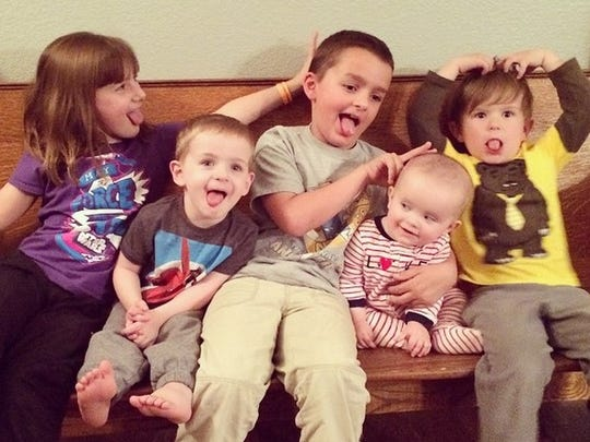 Mike and Dee McGinness' grandchildren: Katie, Blake and Aidan Sei; and Joey and George McGinness.