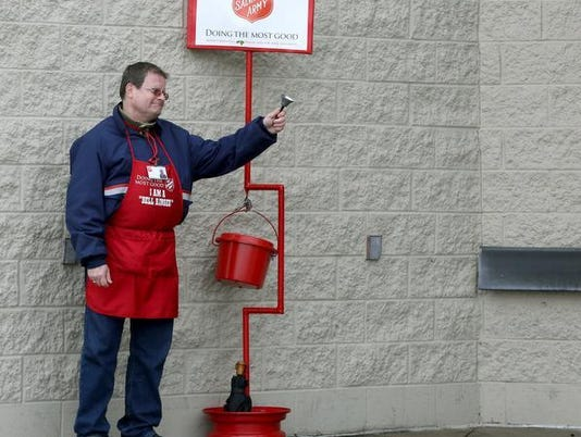 Salvation Army bell ringer Muncie