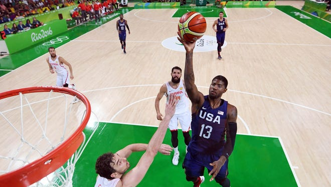 """""""We're not going to see better athletes than playing against each other, so we really got after it; we picked it up,"""" Team USA/Indiana Pacers small forward Paul George said after a full-contact practice on Tuesday."""