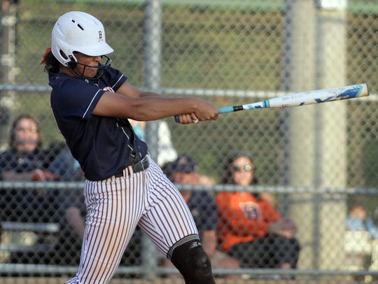 Beech's Kennedy McCurry extends the arms on her grand