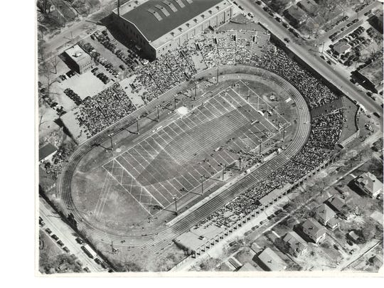 The Drake Relays, shown in a 1939 photo, are one of